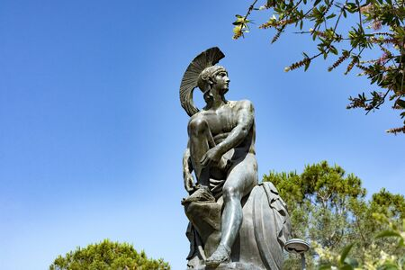 Statue of Theseus at theseion area of Athens in Greece