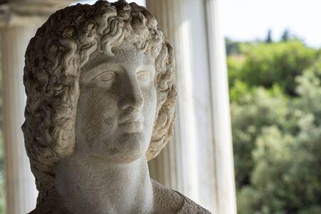 bust of greek god and hero Hercules Zdjęcie Seryjne