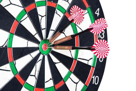 Darts board with arrows photo