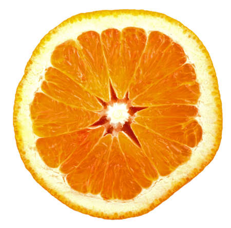 Orange slice isolated on white Stock Photo - 6777920