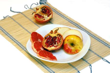 fruits on white dish Stock Photo - 6777908