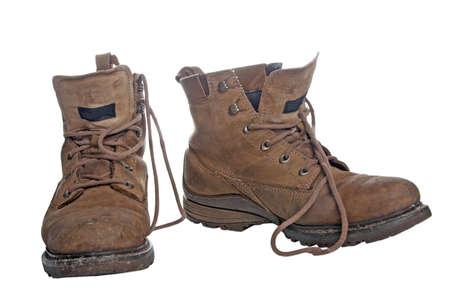 Old worky boots Standard-Bild
