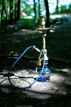 Turkish hookah in the forest photo