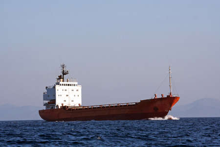 Tanker sailing in the sea  Stock Photo