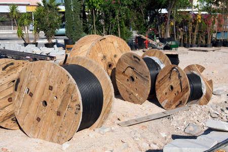 Cable colis on construction site photo