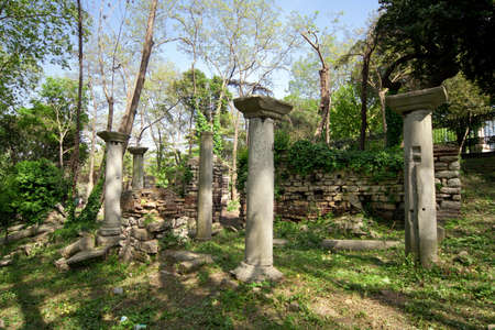 byzantium: Byzantium ruins in Istambul, Turkey Stock Photo