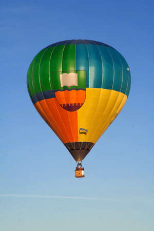 Flying balloon at sunrise in the sky Stock Photo - 7422268