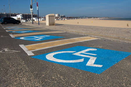 Car parking for disabled on Kale beach photo