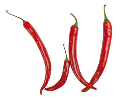 w letter made from chili photo