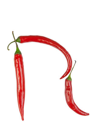 N letter made from chili  photo