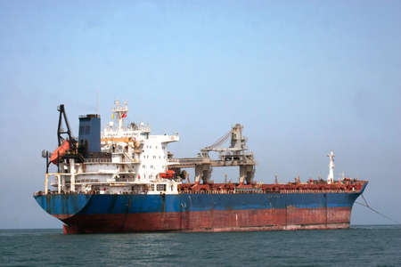 Tanker sailing in the sea photo