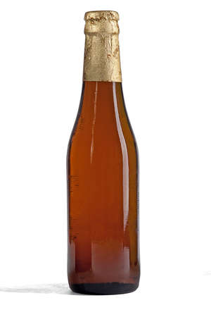 foil: Closed bottle of beer Stock Photo