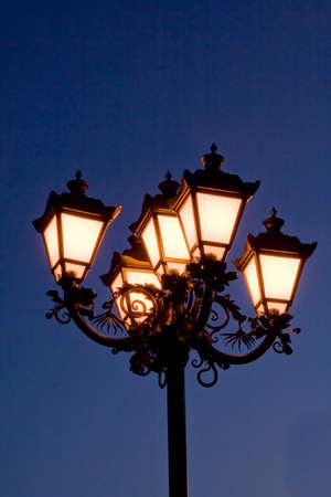 Lanterns at night photo