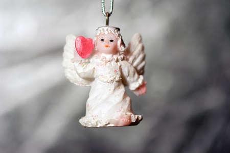 Angel keychain with heart photo