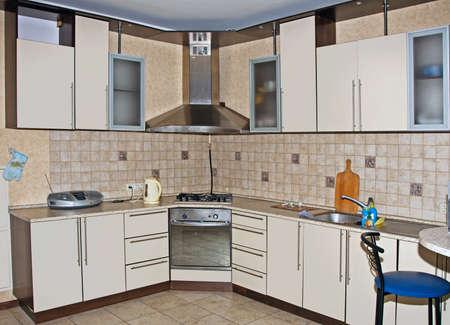 Modern kitchen interior with stove Stock Photo - 8459599