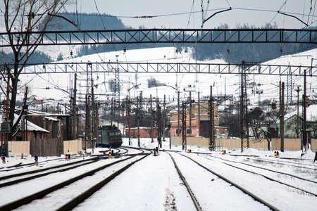 Train on railway station Stock Photo - 8504505