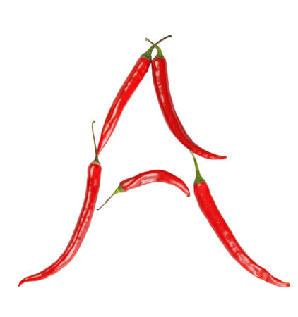 a letter made from chili  photo