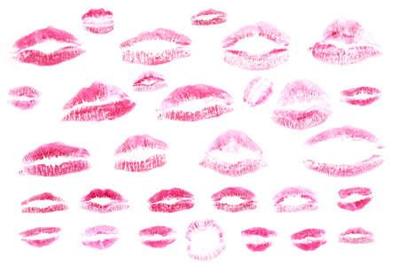 Rode lippen stamps geïsoleerd op witte achtergrond Stockfoto - 9036898