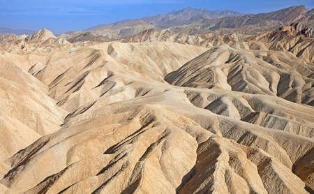 Zabriskie point in national park Death Valley, USA photo