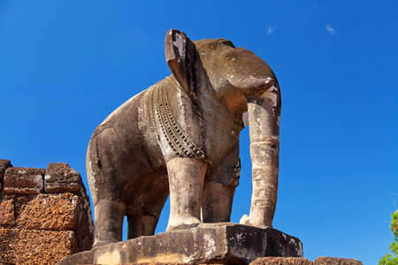 Elephant statue in Pre Rup temple in Angkor complex, Siem Reap, Cambodia