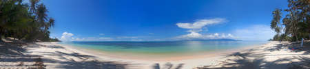 Panorama of the tropical beach and ocean coastline  Stock Photo