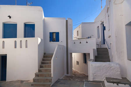 White houses and blue sky on the greek island  photo
