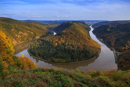 saar: Saar loop (saarschleife) in germany near Orscholz