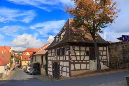 half timbered house: Old timbered house on Bamberg street, Germany