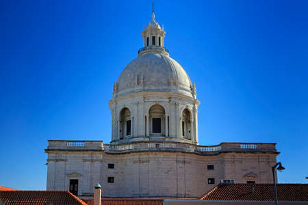 pantheon: National Pantheon and house roofs in Lisbon, Portugal