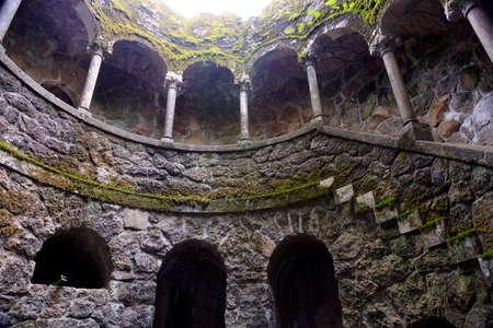 initiation: Initiation well in Quinta da Regaleira, Sintra, Portugal Editorial