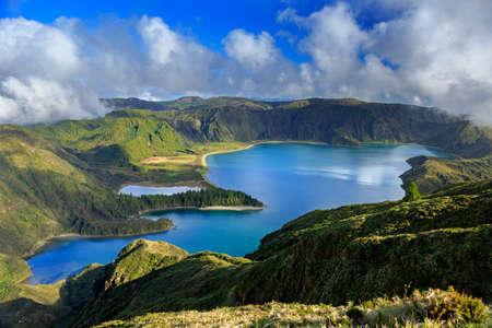 Lagoa do Fogo und grünen Tal am San Miguel Insel Azoren