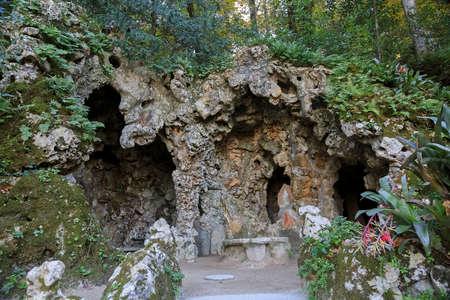 Underground walkway in Quinta de Regaleira, Sintra, Portugal