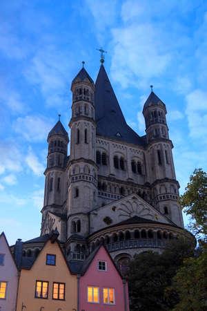 Saint Martin church in Cologne, Germany Stockfoto