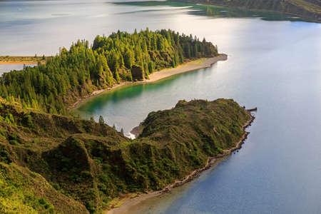 Peninsula on Lagoa do Fogo, San Miguel island of Azores