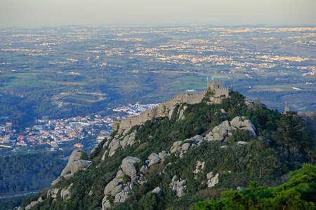 Castelo dos Mouros top view, Sintra, Portugal Stockfoto