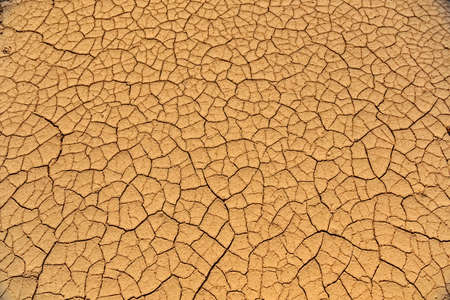 Clay cracks on the ground near Zabriskie point, California, USA, Death Valley