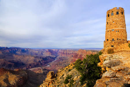desert view watchtower in Grand Canyon National Park with landscape view Stockfoto