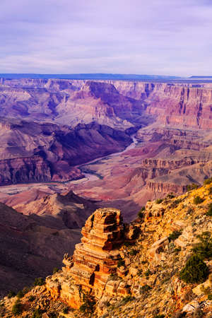 Grand Canyon and Colorado river at sunset in national park