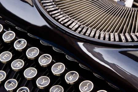 key words: Antique Typewriter closeup