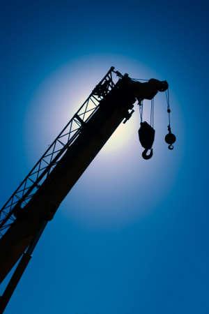 Construction Crane Sillouette Stock Photo - 4802671