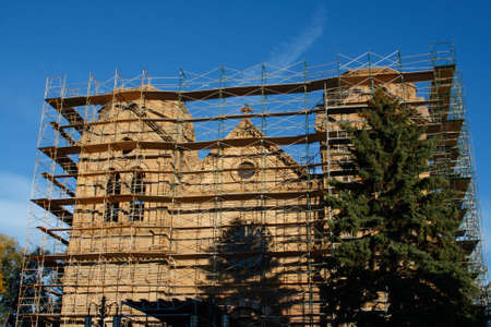 Catedral de San Francisco, Santa Fe, Nuevo México, EE.UU., EE.UU. Foto de archivo - 4802654