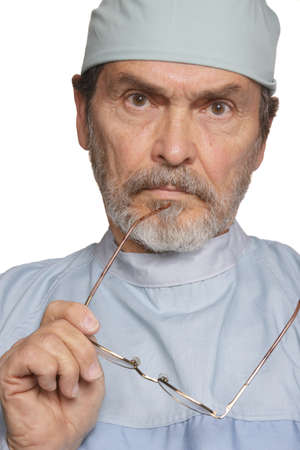 md: Medical Doctor MD, Surgeon looking serious