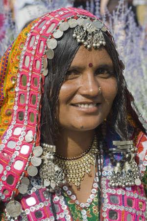 International Folk Art Market held annually in Santa Fe, New Mexico, USA, woman from India