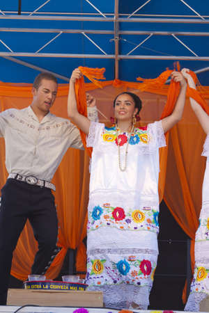 International Folk Art Market held annually in Santa Fe, New Mexico,  USA, Mexican folkl dance Editorial