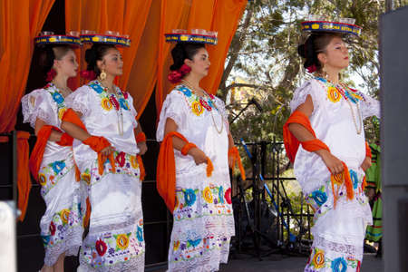 fe: International Folk Art Market held annually in Santa Fe, New Mexico,  USA, Mexican folkl dance Editorial