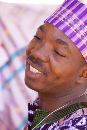 nigeria: International Folk Art Market held annually in Santa Fe, New Mexico,  USA, man from Nigeria