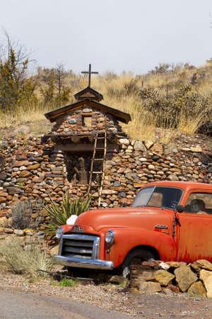 Old pickup truck, Santa Fe,  New Mexico USA