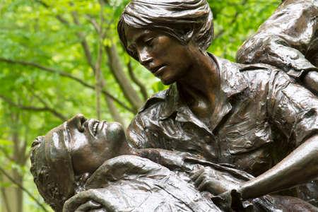 Vietnam Womens Memorial designed by Glenna Goodacre, dedicated on November 11, 1993