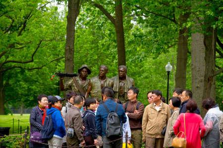 Vietnam Veterans Memorial, in Washington DC,  Chinese tourists Editorial