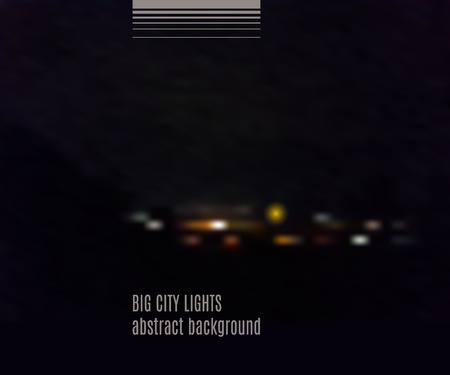 city lights: Big city lights texture. Abstract blurry background for your design. Vector illustration